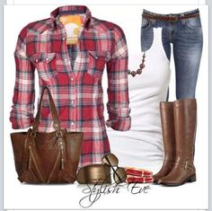 64f8ae2f377dc ... the most popular trends in fashion today is plaid shirts with a  feminine