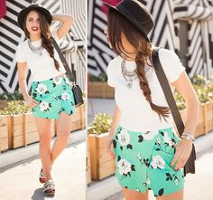 Lord & Taylor Skort, Lord & Taylor Top, Forever 21 Hat