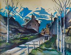 Childhood art of ROBERT LYN NELSON 1973 watercolor on paper  #art #painter #earlyart  @robertlynnelson.com