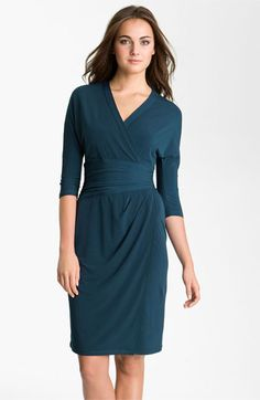 Suzi Chin for Maggy Boutique Elbow Sleeve Faux Wrap Dress | Nordstrom