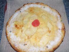 Tarta de mascarpone y manzana