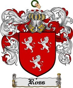 Ross Family Crest / Ross Coat of Arms