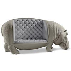 The Handcrafted Hippopotamine Sofa - Hammacher Schlemmer