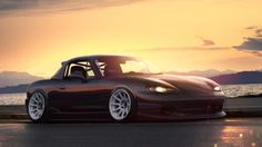 Mazda Tuning Car Mx 5 Stance Sunset HD Wallpaper