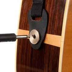 Výsledek obrázku pro Acoustic guitar Bridge and endpins Acoustic Strap Secure
