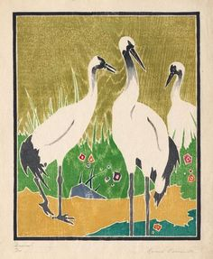 Cranes; Ida Marie Perrault The Old Print Shop