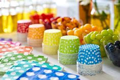 rainbow cups and fruit rainbow party food idea Pink Peppermint Prints and Parties ? beautiful budget friendly party ideas and DIY tutorials ? page 2 Butterfly Birthday Party, Polka Dot Birthday, Polka Dot Party, Rainbow Birthday Party, 4th Birthday Parties, Girl Parties, Birthday Crowns, Polka Dots, Birthday Games