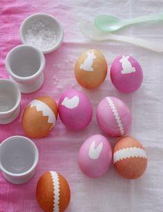 Huevos de Pascua  Blanco y Neón / Neon & White Easter Eggs