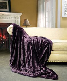 Look what I found on #zulily! Blackberry Faux Fur Throw by BNF Home Inc. #zulilyfinds