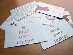 kindovermattercards by Amanda Oaks, via Flickr