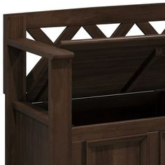 WYNDENHALL Halifax SOLID WOOD 48 inch Wide Transitional Entryway Storage Bench - 48 Inches wide - On Sale - Overstock - 7326885 Entryway Bench Storage, Bench With Storage, Wood Colors, Modern Contemporary, Solid Wood, Home And Garden, Benches, Natural, Brown