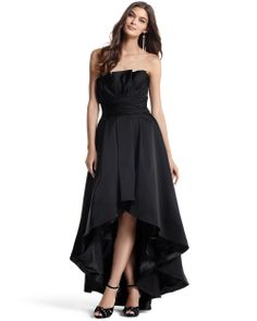 Be high fashion in this high-low skirt. Perfect for any black tie preferred weddings.