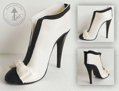 Sugar High Heel Shoe Chanel - by TantePollewop @ CakesDecor.com - cake decorating website