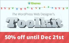 Only 3 Days Left Grab your ithemes wordpress webdesigner toolkit now...  http://www.frip.in/get-50-discount-on-ithemes-webdesigners-toolkit-christmas-2012-deals/