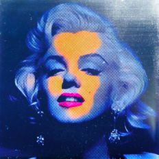 Felix von Altersheim - Marilyn Monroe - Silver BRUSHED - Deep Water Blue