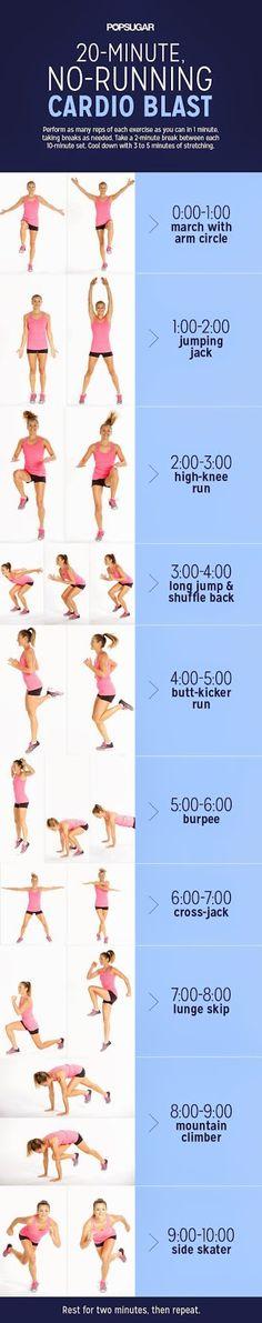 20-Minute No-Running Cardio Blast | Fitnezready