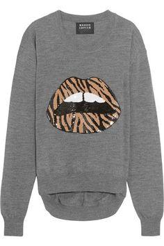 MARKUS LUPFER Lara Sequin-Embellished Wool Sweater. #markuslupfer #cloth #knitwear