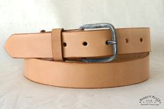 The Smuggler's Belt in Natural by Barrett Alley. The hidden compartment belt.