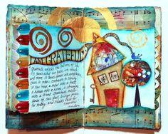 art journaling prompts | Beautiful art journal ideas | Valeries Sjodins Art