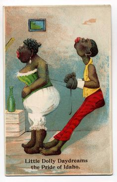 Early Black Americana Postcard