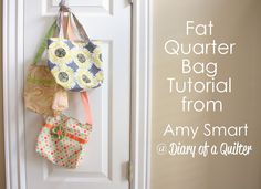 Fast and Fab Fat Quarter Bag - Use your fat quarter quilt patterns to make a cute little quilted tote bag super fast! You can even embellish this on the go bag from @Amy Smart  with fabric flowers to make it even cuter.