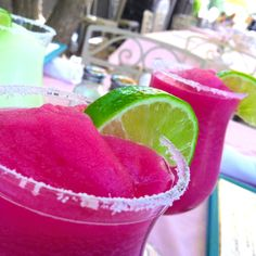 Prickly Pear Margarita Recipe Instructions 1 1/2 oz. Silver tequila 1 1/2 oz. fresh lemon juice 1 oz. Triple Sec 1 oz. prickly pear syrup Salt Lemon wedge Place a thin layer of salt on a saucer. Rub the rim of a 12-ounce glass with lemon wedge and immedi