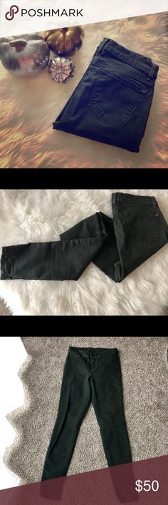 J. Brand Conifer Skinny Jeans Dark Green skinny jeans.  Excellent condition. J Brand Jeans Skinny