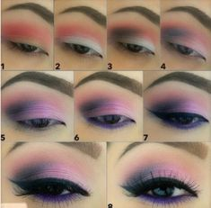 Pretty Pink Makeup Looks Matte Makeup, Purple Makeup, Purple Eyeshadow, Eyeshadow Looks, Eyeshadow Brushes, Eyeshadow Tutorials, Makeup Tutorials, Makeup Brushes, Makeup Tips