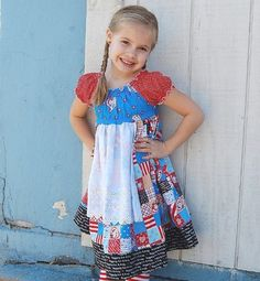 Raggedy Ann and Andy peasant apron dress by littleellaroo on etsy.