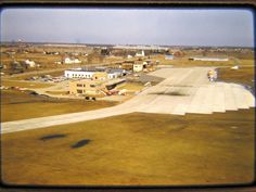 Looking east at Bishop airport in the '50s with the Chevrolet factory in the background.