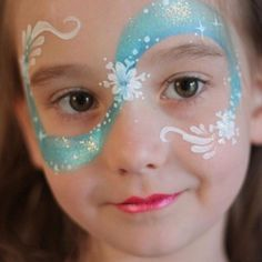 Frozen Face Painting, Cool Face Painting Ideas For Kids… Face Painting Designs, Paint Designs, Body Painting, Face Painting For Kids, Simple Face Painting, Disney Face Painting, Princess Face Painting, Cool Face Paint, Painting Tips