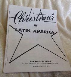 Vintage Brochure Kerst in Latijns-Amerika van OceanPolished op Etsy