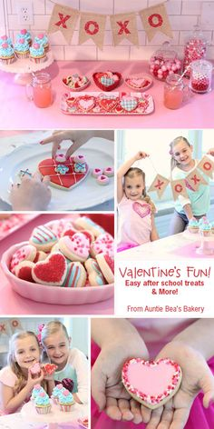 Valentine's Party - Easy After school treats Valentines Day Cookies, Valentines Day Activities, Valentine Treats, Be My Valentine, Holiday Treats, Heart Day, School Treats, Auntie, Sugar Cookies