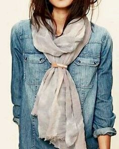 Chambray and a scarf