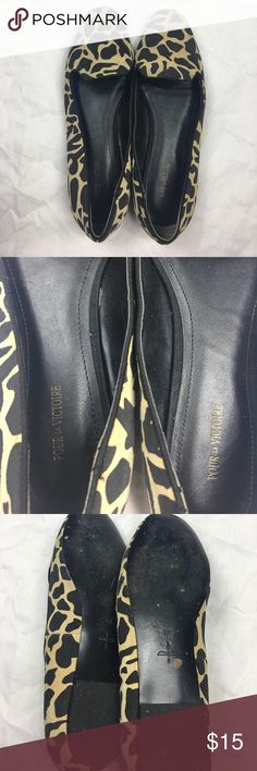 Pour La Victorie Giraffe Print Flats Slightly worn, still in good condition. Cute shoes for anytime. Shoes Flats & Loafers