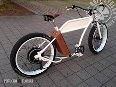 Ruff Cycles - Porucho by Florian E Bicycle, Cruiser Bicycle, Custom Cycles, Custom Bikes, Electric Moped, Chopper Bike, Fat Bike, Mopeds, Bike Design