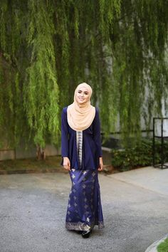 Kyla Songket Navy Blue