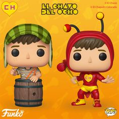 Funko just announced new figures - El Chavo Funko Pop and El Chapulín Pop! El Chavo del Ocho is a sitcom from Mexico that was aired from 1971 to Now You Pop Figures, Vinyl Figures, Action Figures, Betty Boop, Pop Custom, Logos Retro, Funk Pop, Gaming Tattoo, Nintendo Characters