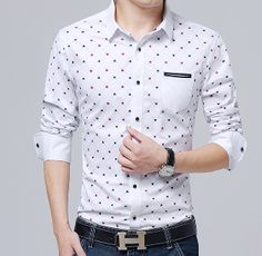 Mens Long Sleeve Shirt with Prints