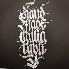 'Handmade Calligraphy' #calligraphy #calligraphymasters #calligraffiti #handlettering #handwriting #freehand #lefthand #lefty #custom #gothic #fraktur #lettering #paindesignart #tyxca @handmadefont #typematters #typism #typegang #goodtype #artoftype #thedailytype #designspiration