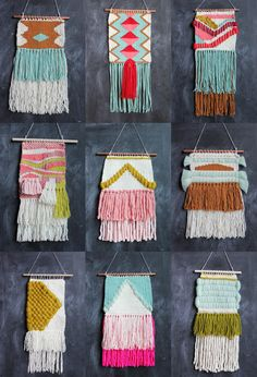 Lovely April Weavings by Rachel Denbow of Smile and Wave. So nice to see people weaving! Weaving Projects, Weaving Art, Wire Weaving, Tapestry Weaving, Craft Projects, Textiles, Patch Bordado, Smile And Wave, Diy Décoration
