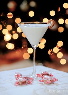 Salted caramel martini, 2 parts rum chata, 1 part caramel vodka, shake in martini shaker with ice, serve in salt rimmed glass