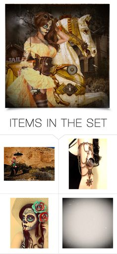 """""""Steampunk Halloween"""" by craftygeminicreation ❤ liked on Polyvore featuring art"""