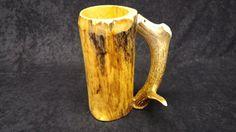 Check out this item in my Etsy shop https://www.etsy.com/listing/255873300/wooden-beer-mug-beer-mug-wooden-mug-beer