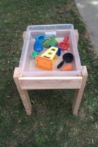 Easy DIY water table - love that you can snap the lid on the bin. Makes easy sensory bin clean up as well!