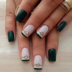 Diamond nails that will make you shine bright like a diamond. Best photos with diamond nails, tutorials, and prices. Beautiful Nail Art, Gorgeous Nails, Pretty Nails, Toe Nail Art, Toe Nails, Pretty Nail Designs, Nail Art Designs, Nail Deco, Glitter Make Up