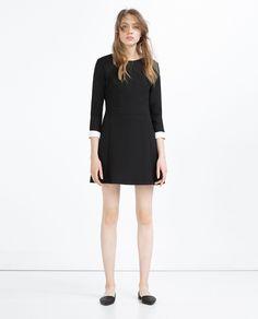 ZARA - WOMAN - SHORT DRESS WITH WHITE CUFFS