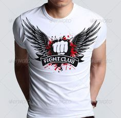 Agressive Fight Club T-shirt  with Blood Splatter Template Vector EPS, AI. Download here: http://graphicriver.net/item/agressive-fight-club-tshirt-with-blood-splatter/6515708?ref=ksioks