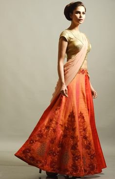 #Spring#Summer collection..#orange#Peach color#beautiful#Design#lehenga #Indian traditional wear