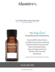 Alumier MD Glow Peel – La Chambre Des Dames Allergan Botox, Chemical Peel At Home, Dermal Fillers, Beauty Makeup, Hair Makeup, Skin Care Tips, Glow, Beauty Ideas, Aesthetics
